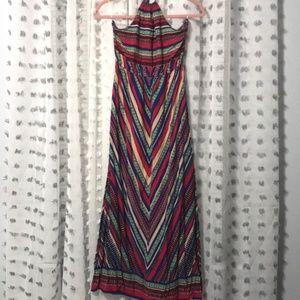 Earthbound Halter Maxi Dress
